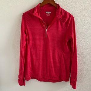 Kirkland Quarter Zip Pink Pullover | L